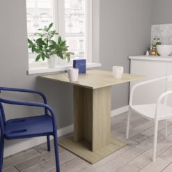 Dining Table Sonoma Oak 80x80x75 cm Chipboard | Furniture Supplies UK