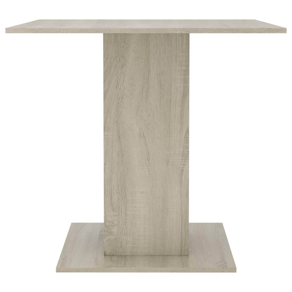 Dining Table Sonoma Oak 80x80x75 cm Chipboard