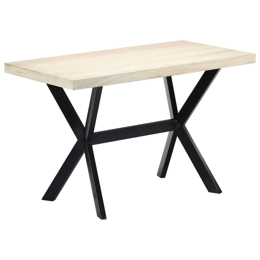 Dining Table White 120x60x75 cm Solid Mango Wood | Furniture Supplies UK
