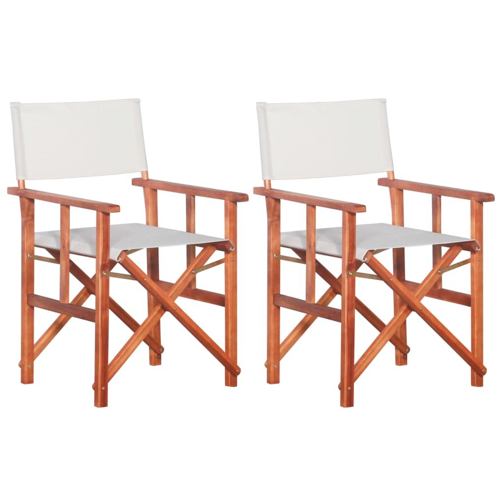 Director's Chairs 2 pcs Solid Acacia Wood | Furniture Supplies UK