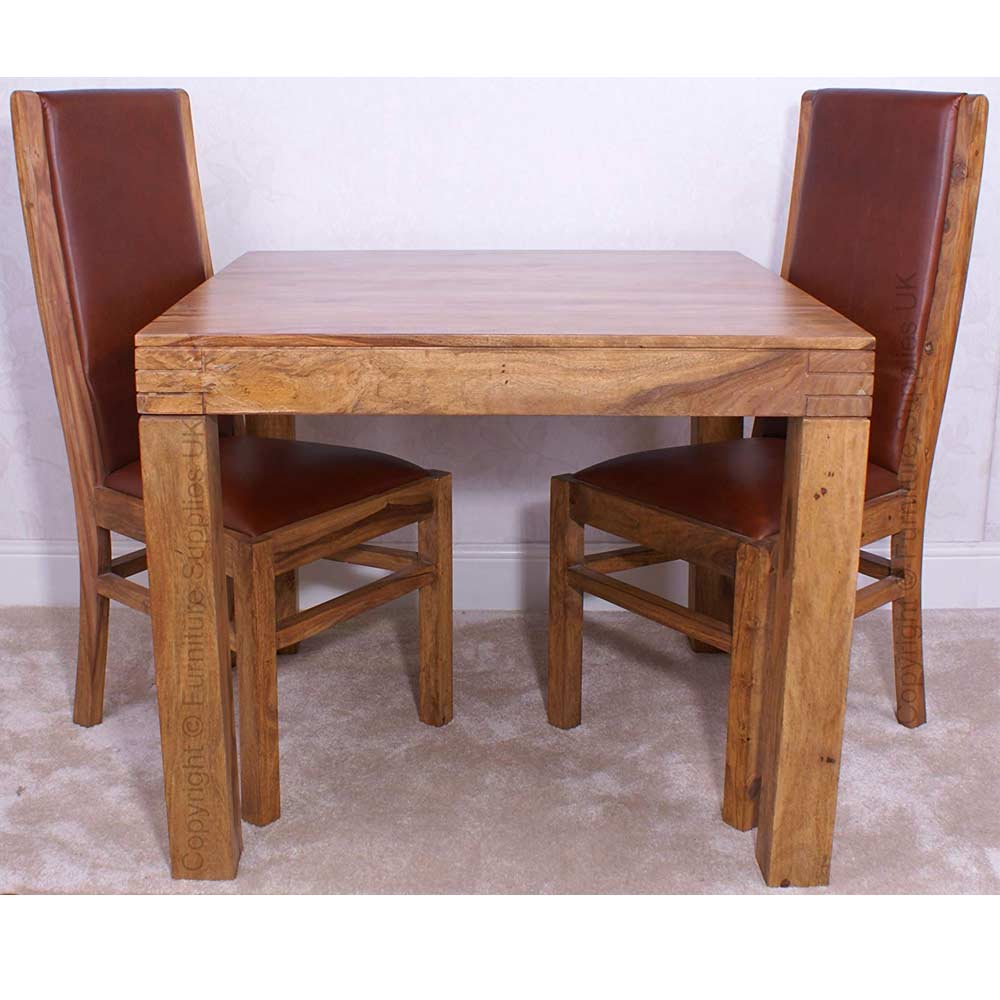 Divine 135cm Sheesham Dining Table & 4 Chairs | Furniture Supplies UK