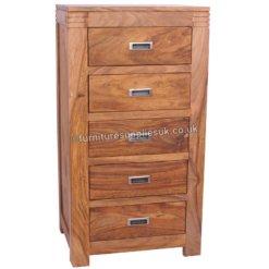 Divine 5 Drawer Tall Boy Chest | Furniture Supplies UK