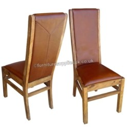 Divine Real Leather Dining Chairs x2 (Red) | Furniture Supplies UK
