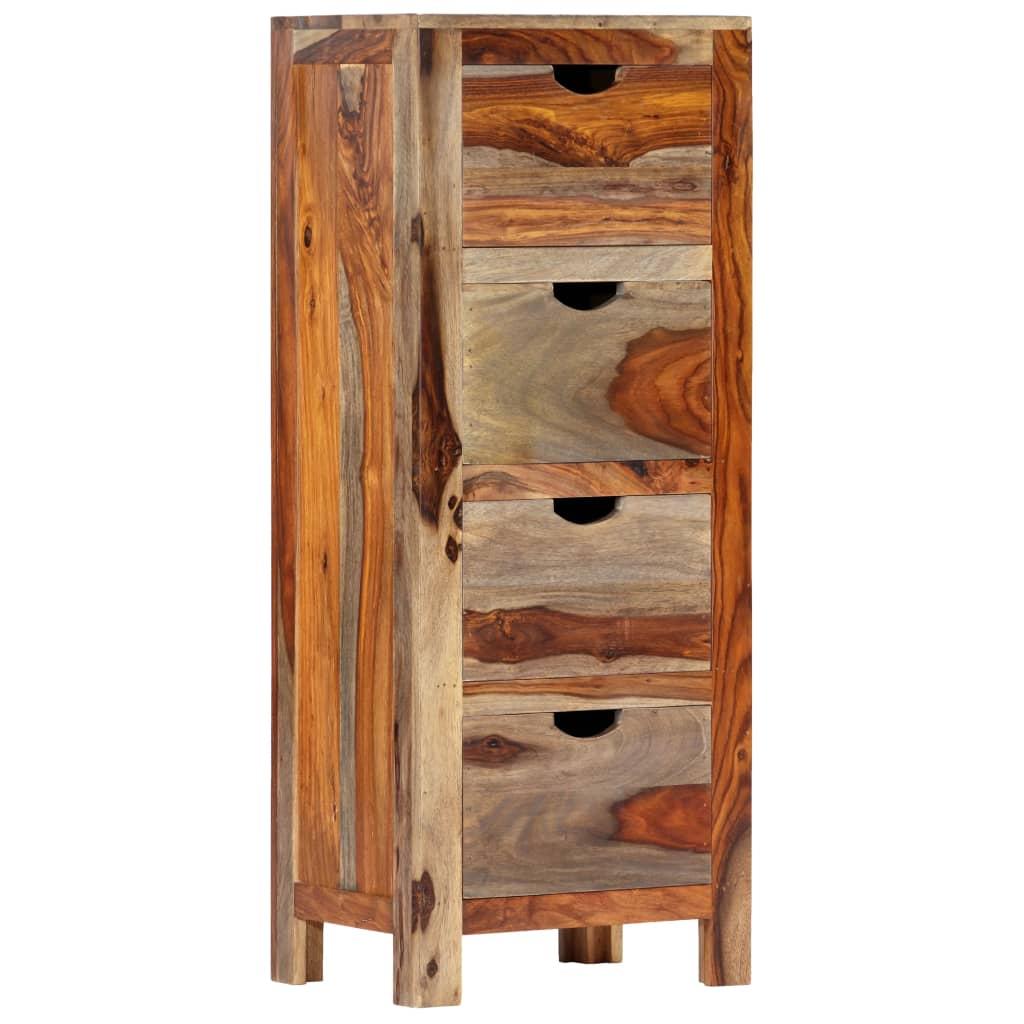 Drawer Cabinet 40x30x100 cm Solid Sheesham Wood | Furniture Supplies UK