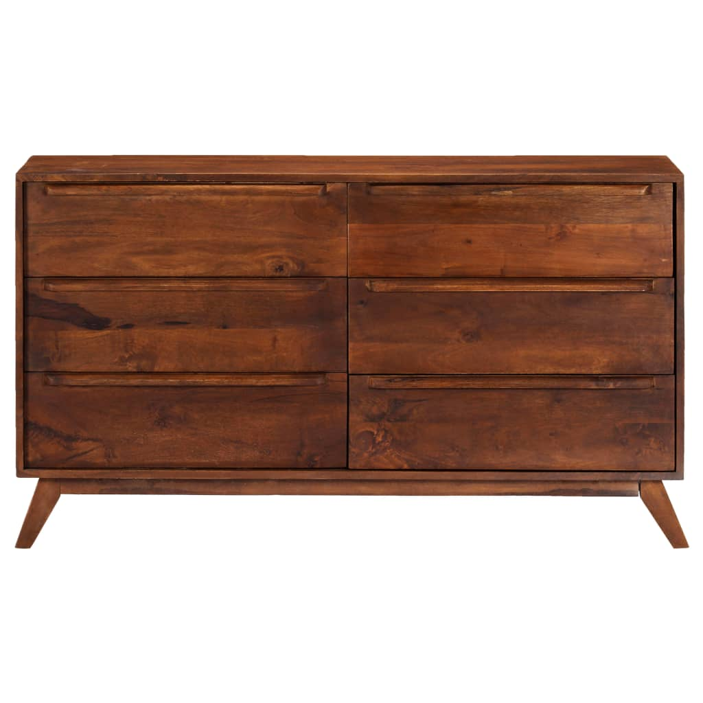 Drawer Cabinet Brown 140x40x80 cm Solid Mango Wood |  | Brown