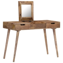Dressing Table 112x45x76 cm Solid Mango Wood | Furniture Supplies UK