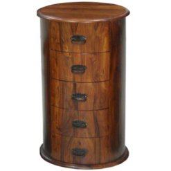 Ganga Jali 5 Drawer Drum Chest | Furniture Supplies UK