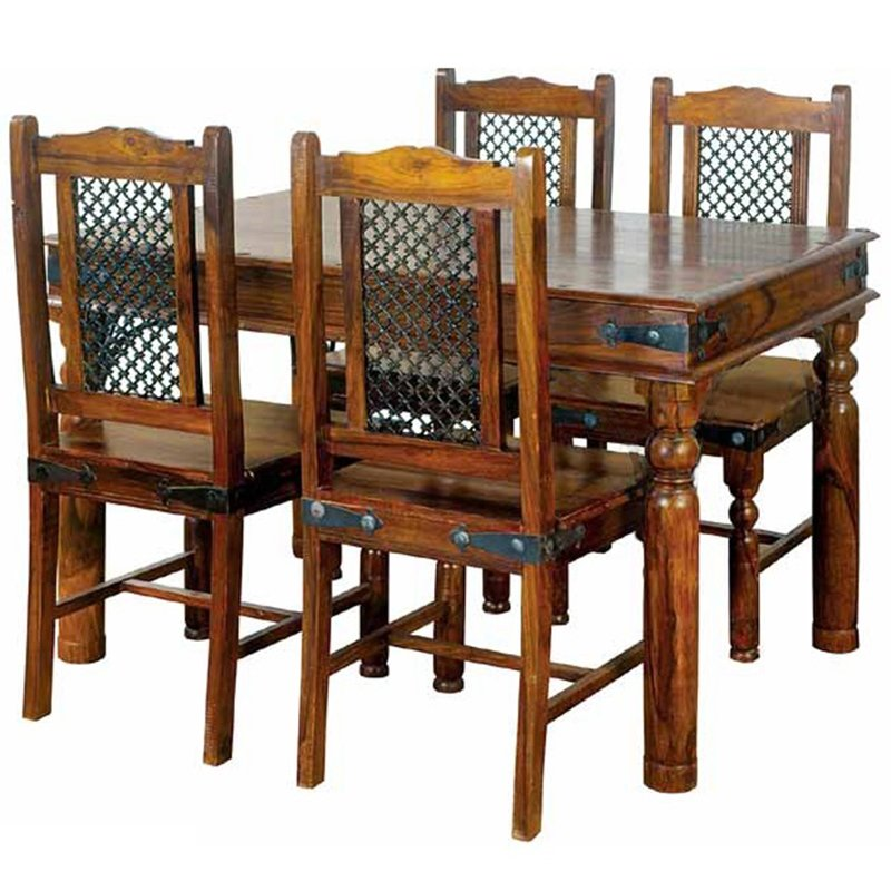 Ganga Range Jali Small Dining Table Without Chairs | Furniture Supplies UK