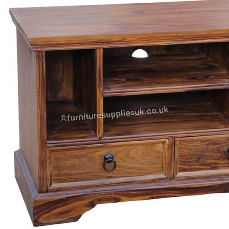Ganga Range Small Jali TV Unit | Rosewood |