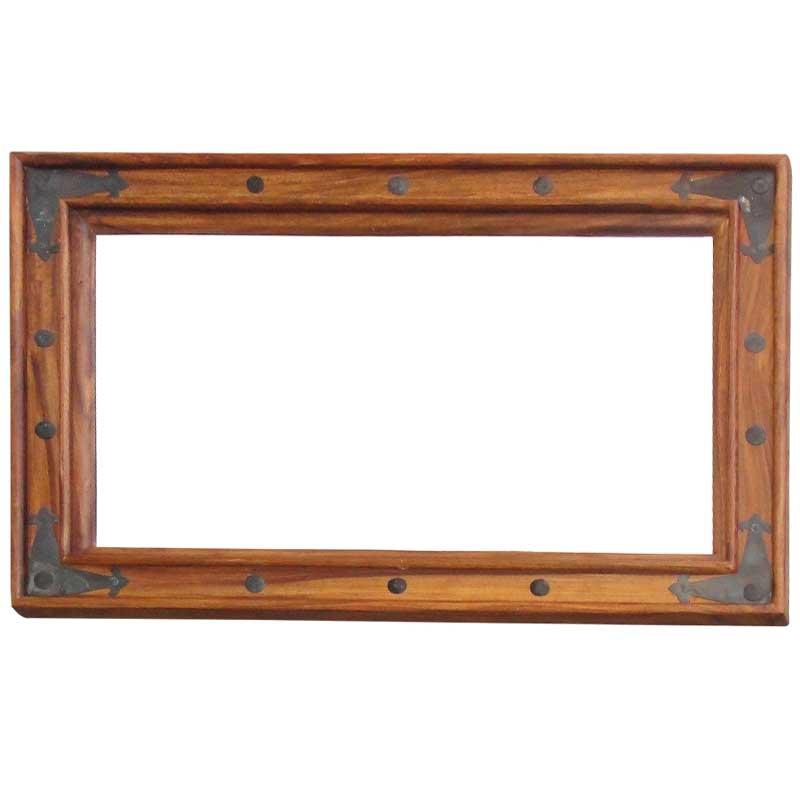 Ganga Sheesham Wood Mirror Small | Rosewood |