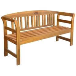 Garden Bench 157 cm Solid Acacia Wood | Furniture Supplies UK