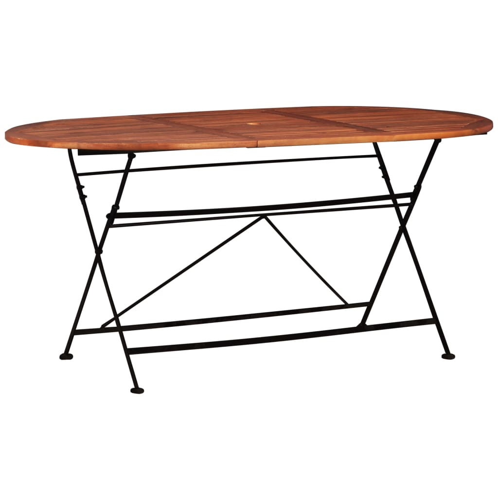 Garden Table 160x85x74 cm Solid Acacia Wood Oval | Furniture Supplies UK