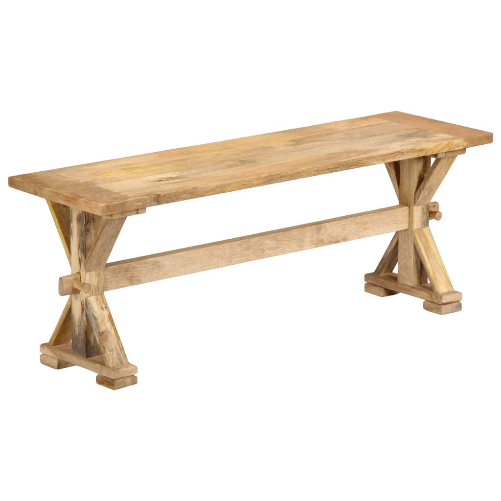 Hall Bench 120x35x45 cm Solid Mango Wood | Furniture Supplies UK