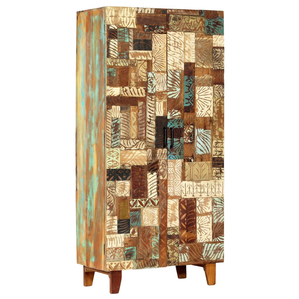 Hand Carved Highboard 85x45x180 cm Solid Reclaimed Wood | Furniture Supplies UK