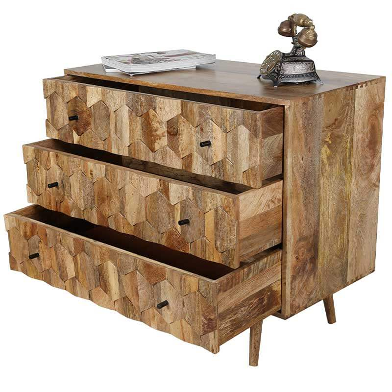 Mango Wood   Chest Of Drawers   HEX-100