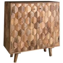 Hexagonal Retro Vintage Compact Bar   Furniture Supplies UK