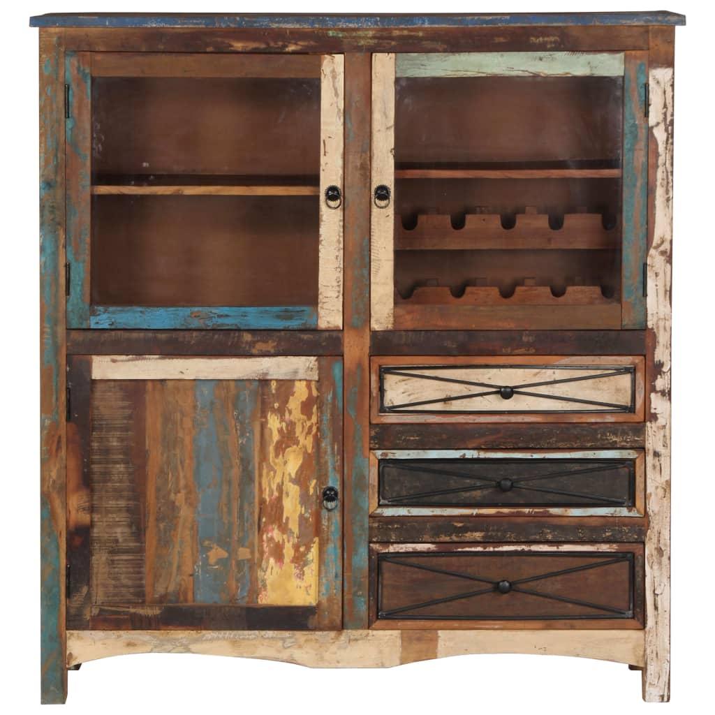 Highboard 130x45x140 cm Solid Reclaimed Wood