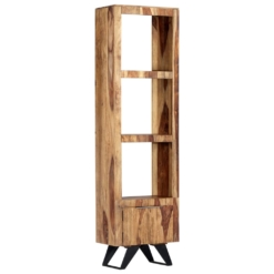 Highboard 45x28x180 cm Solid Sheesham Wood | Furniture Supplies UK