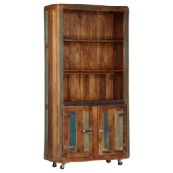 Highboard 90x35x183 cm Solid Reclaimed Wood | Furniture Supplies UK
