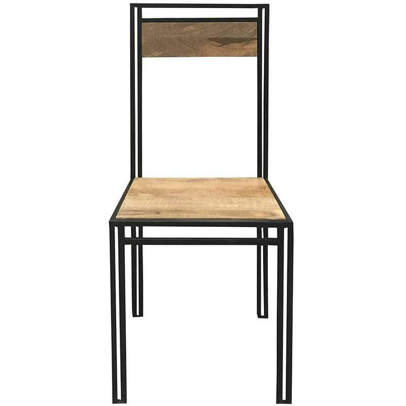 Industrial Dining Chair x1 | Light Mango | Furniture Supplies UK