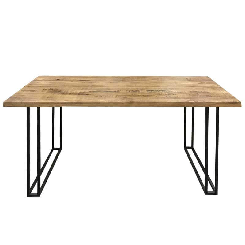 Industrial Large Dining Table With 6 Chairs 175cm   Solid Wood  