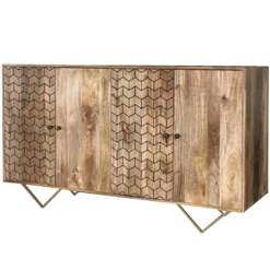 Jaipur Nive 4 Door Large Mango Sideboard | Furniture Supplies UK