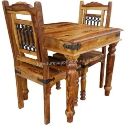 Jali 80cm Dining Table 2 Chairs | Furniture Supplies UK