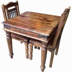 Jali 80cm Dining Table 4 Chairs | Furniture Supplies UK