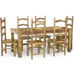 Jali Ruby Dining Table 6 Chairs 180cm | Furniture Supplies UK