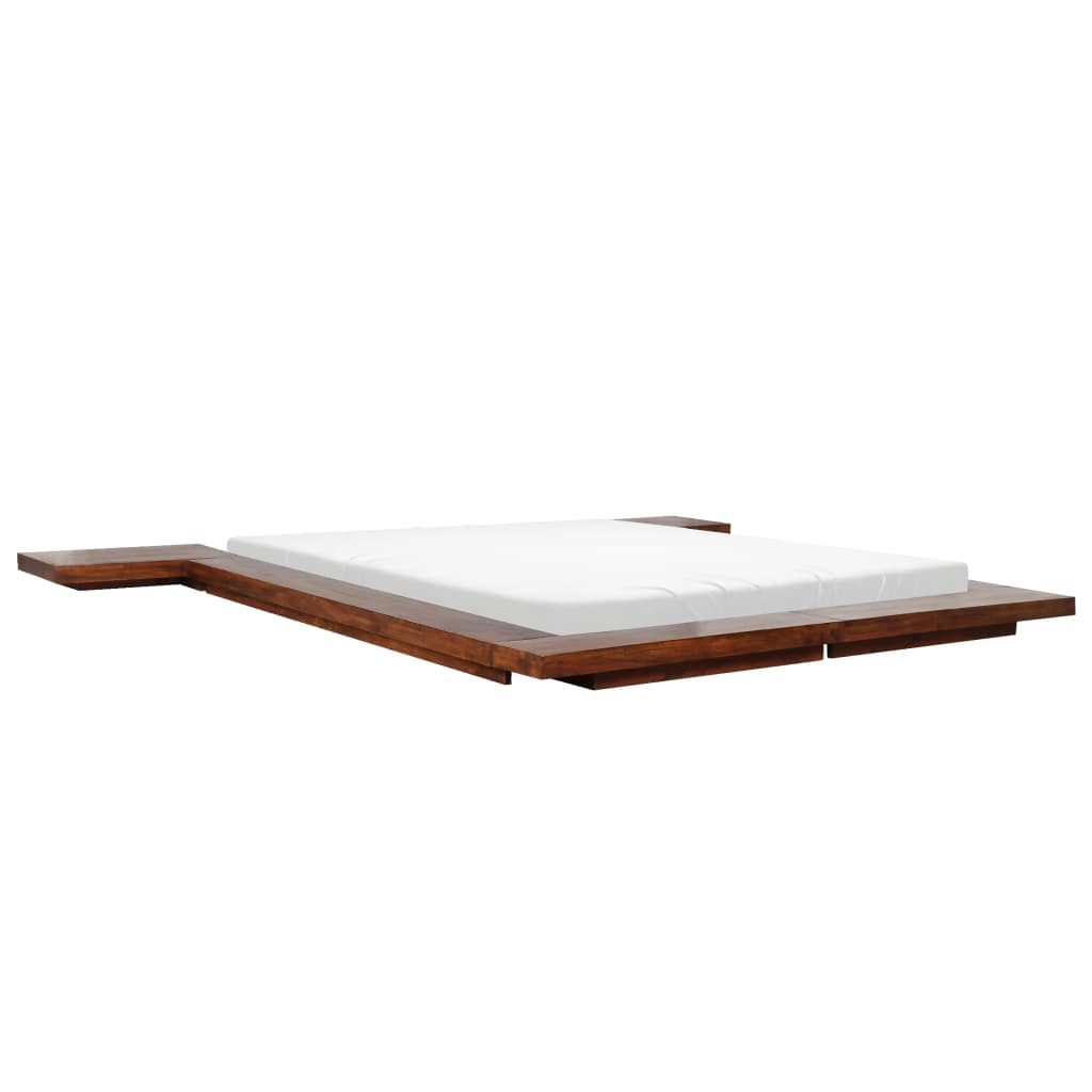 Japanese Style Futon Bed Frame Solid Wood 160x200 cm |  | Brown