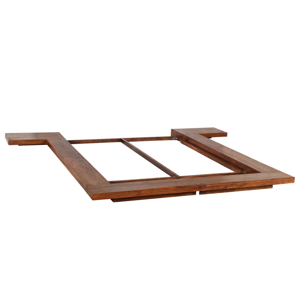 Japanese Style Futon Bed Frame Solid Wood 160x200 cm | Furniture Supplies UK