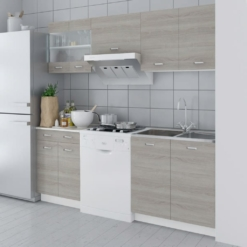 Kitchen Cabinet Unit 5 Pieces with Sink 80x60 cm Oak Look | Furniture Supplies UK