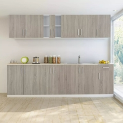 Kitchen Cabinet Unit 8 Pieces with Sink 80x60 cm Oak Look | Furniture Supplies UK