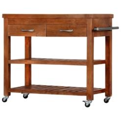 Kitchen Trolley 100x48x89 cm Solid Acacia Wood | Furniture Supplies UK
