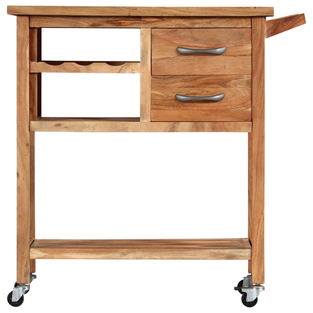 Kitchen Trolley 80x45x91 cm Solid Acacia Wood