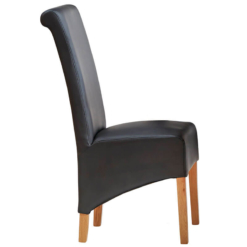 Leather Dining Chair x1 Light Mango   Furniture Supplies UK
