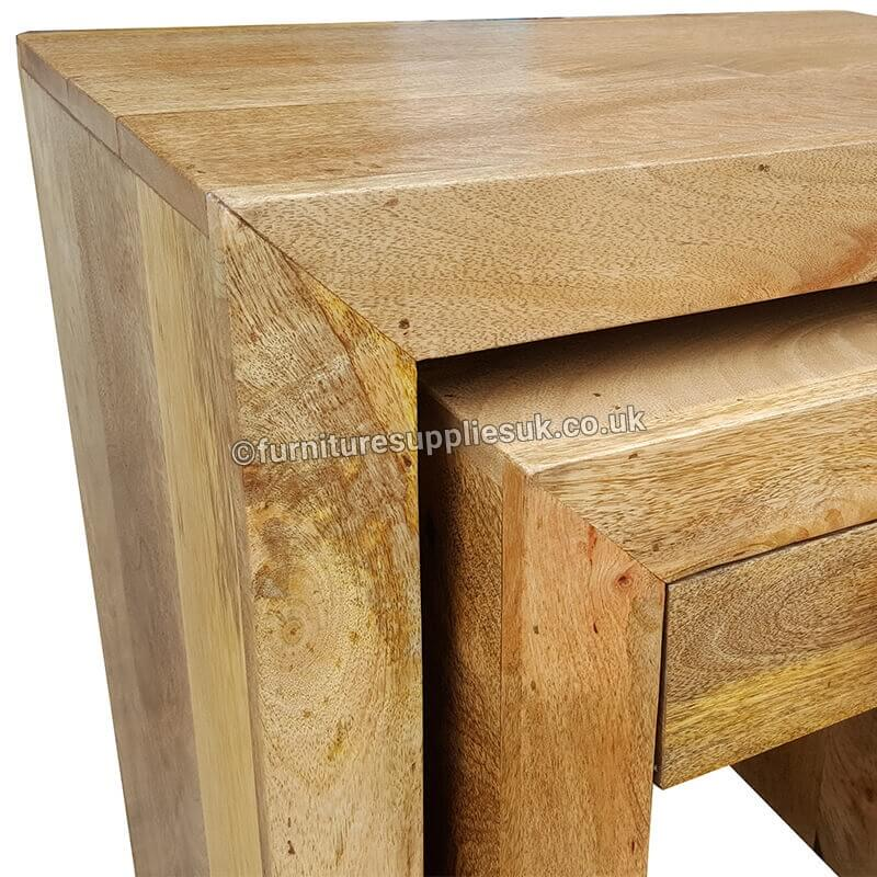 Light Wood Tone Light Dakota 1 Drawer Nest of Tables