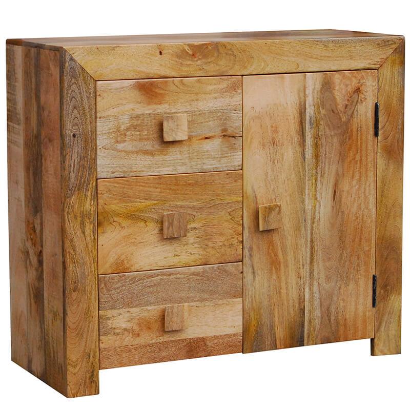 Light Dakota 3 Drawer Sideboard   Furniture Supplies UK