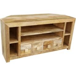 Light Dakota Corner TV Unit 110cm | Furniture Supplies UK