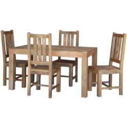 Light Dakota Dining Table 1 Bench 2 Chairs (145cm)   Furniture Supplies UK