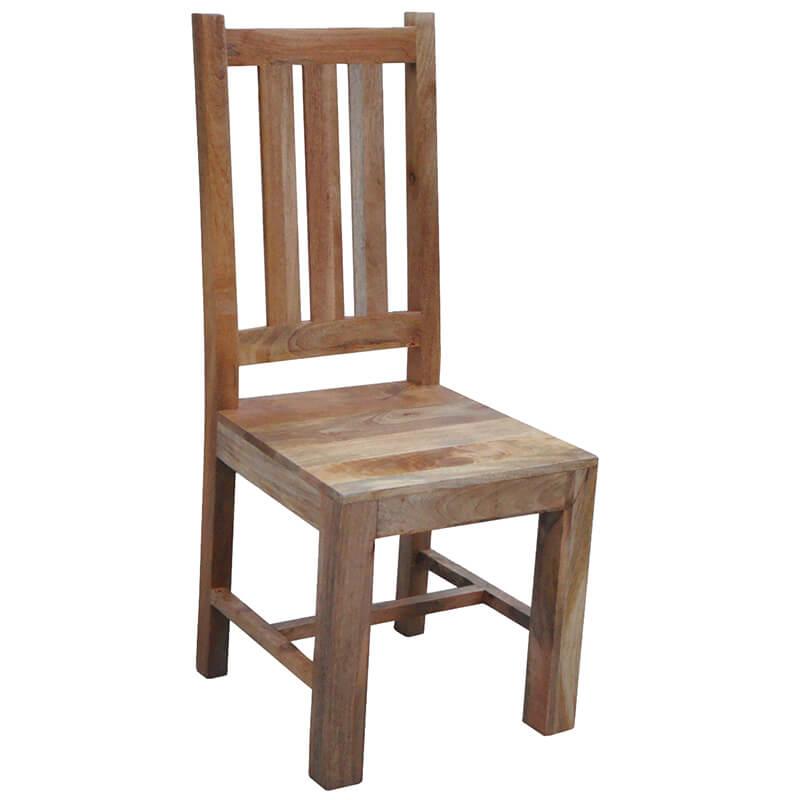 Light Dakota Large Dining Table 6 Chairs (175cm) | Solid Wood |
