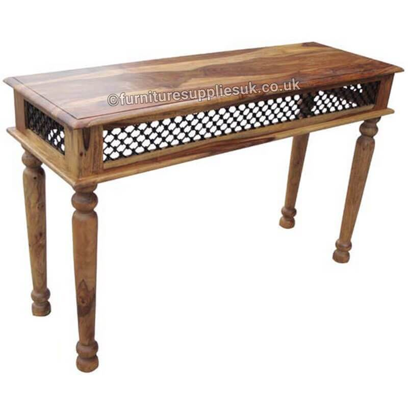 Light Jali Console Table | Furniture Supplies UK