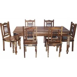 Light Jali X Large Dining Table 200cm | Furniture Supplies UK