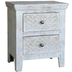 Mandakini Bedside Cabinet With 2 Drawers | Furniture Supplies UK
