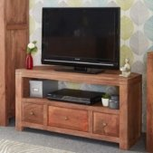 Manhattan Light Mango Corner TV Unit | Furniture Supplies UK