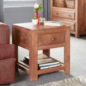 Manhattan Light Mango Lamp Table | Furniture Supplies UK
