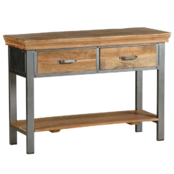 Metro-Industrial 2 Drawer Console Table | Furniture Supplies UK