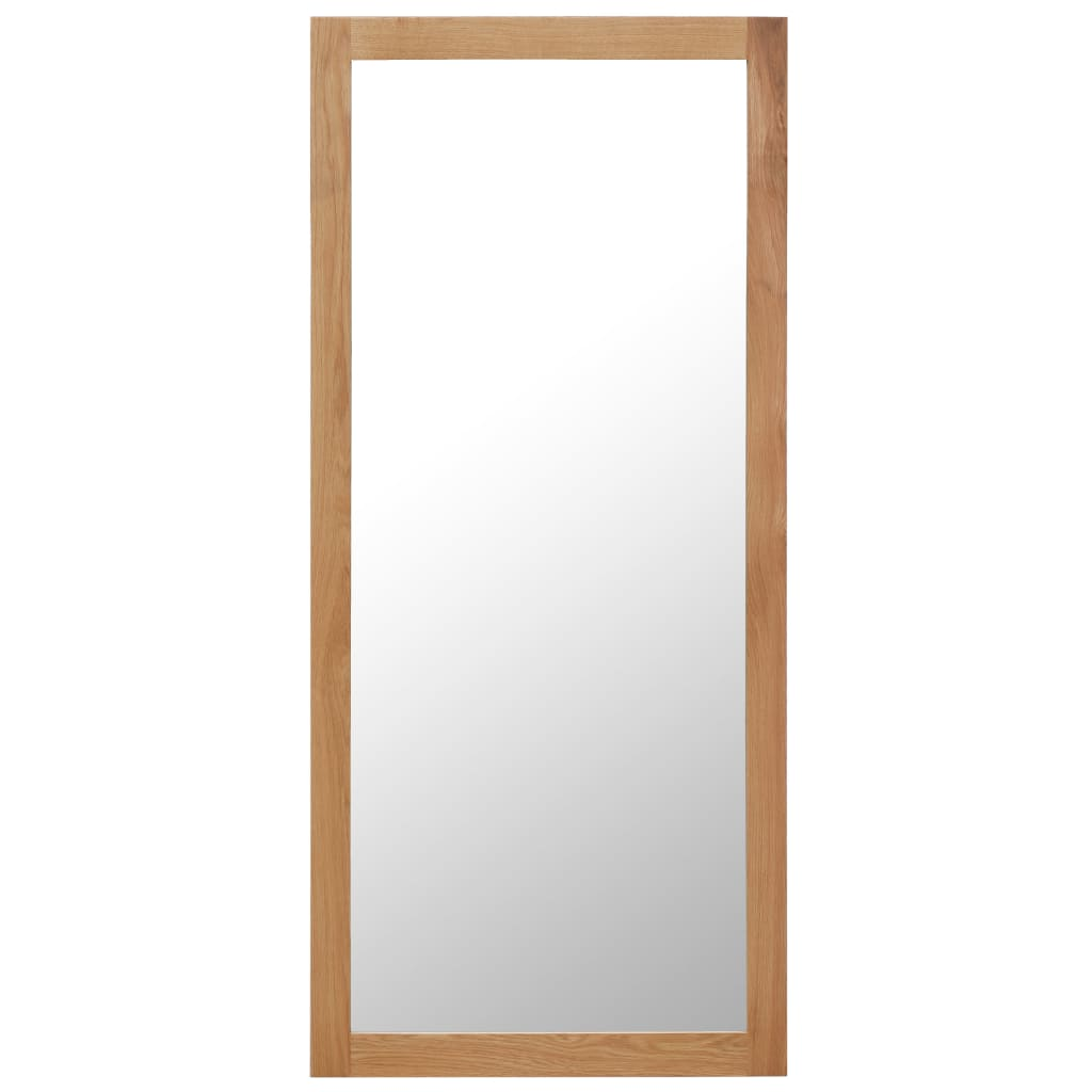 Mirror 50x140 cm Solid Oak Wood |  | Brown
