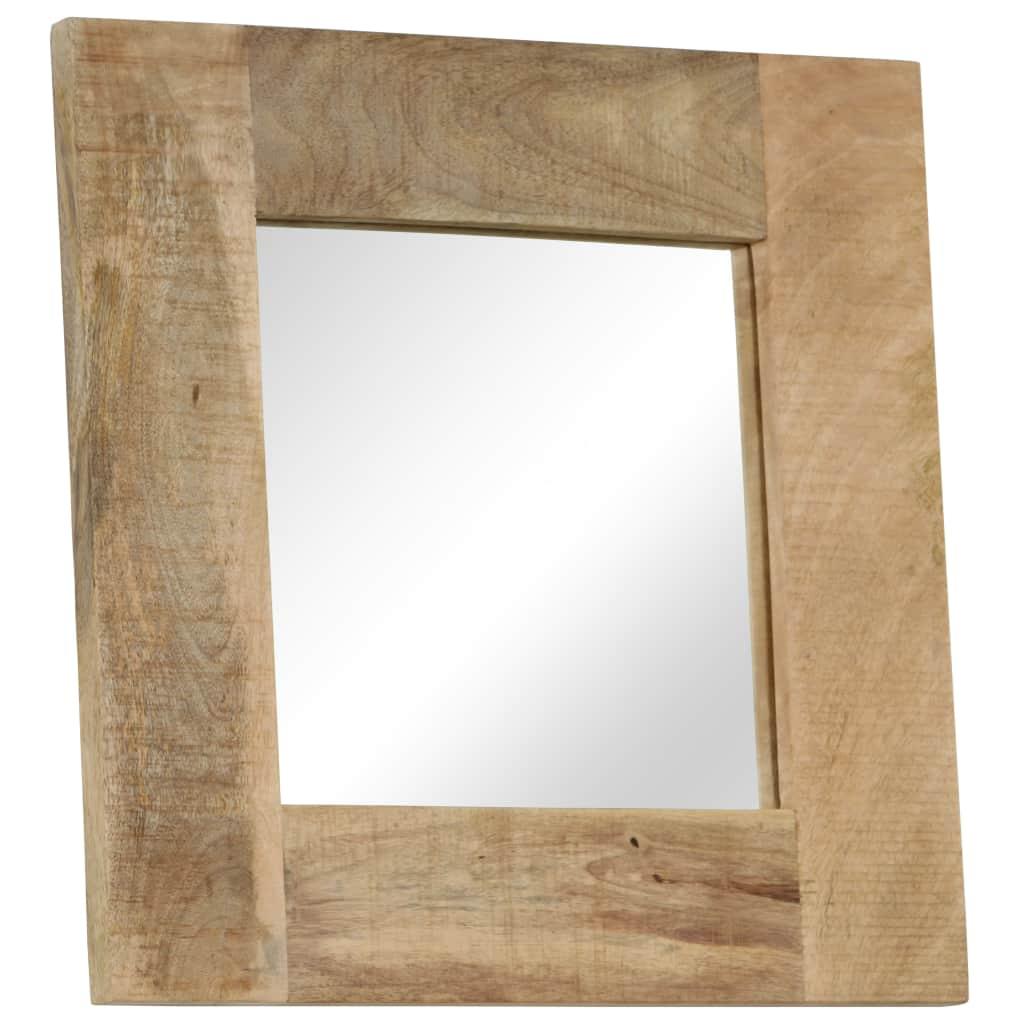Mirror Solid Mango Wood 50x50 cm | Furniture Supplies UK