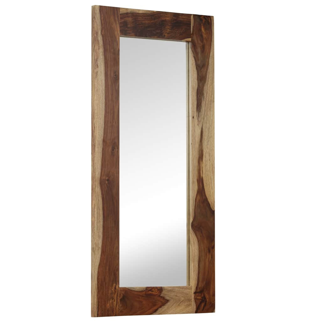 Mirror Solid Sheesham Wood 50x110 cm